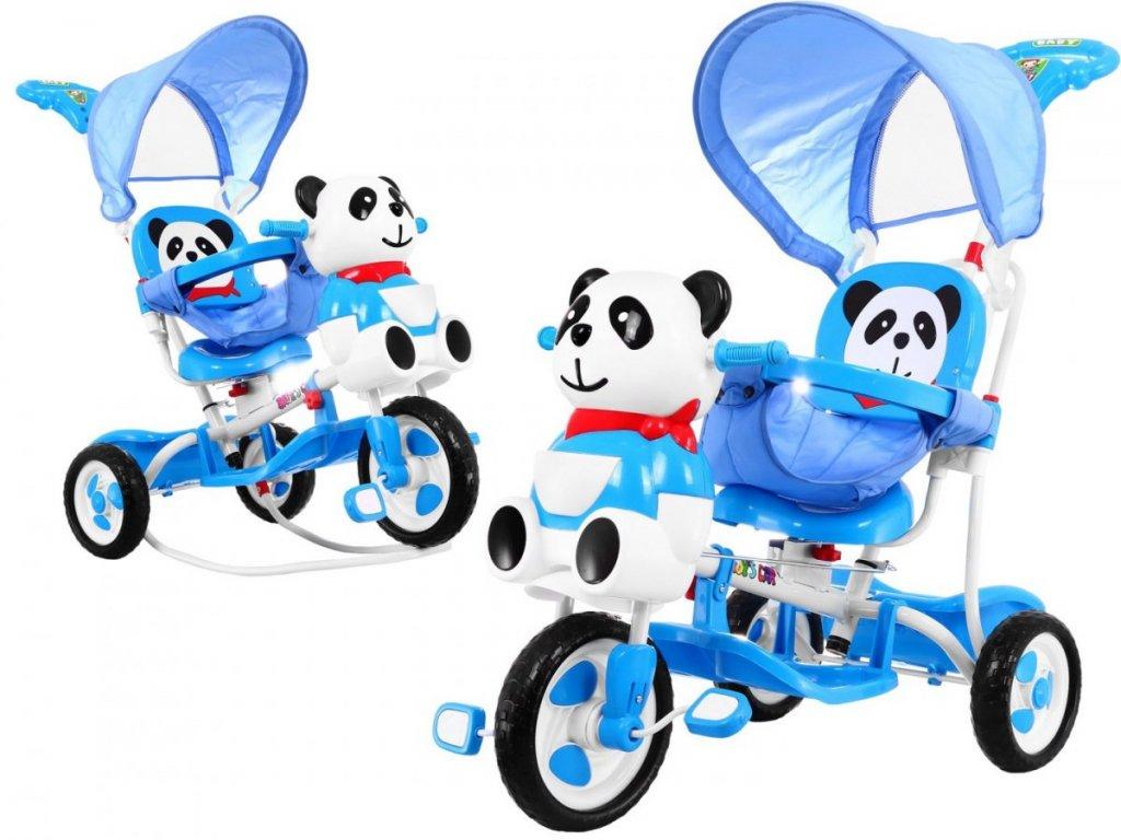 2430 4 detska trikolka panda se zvukovymi efekty modra