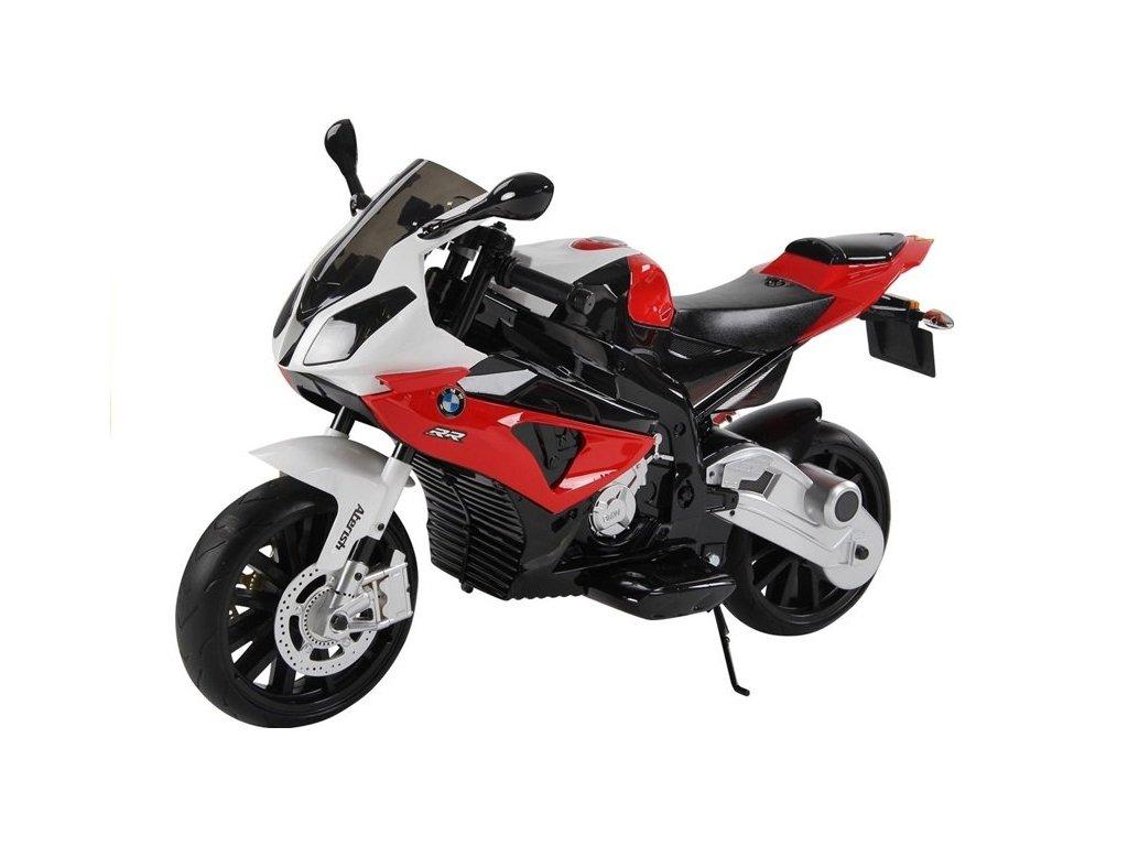 3441 1 detska vykonna elektricka motorka bmw s1000 cervena