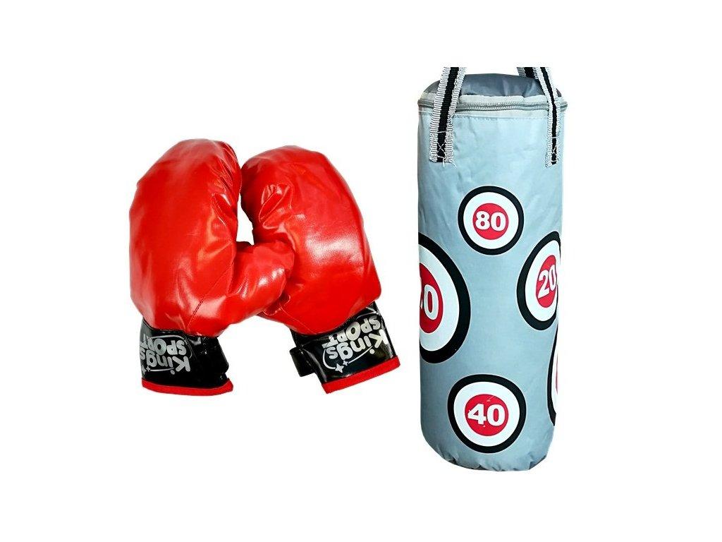 Dětský boxovací pytel a rukavice 57 x 18 cm
