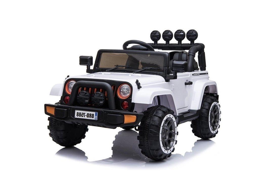 mamido Dětské elektrické auto Jeep BRD 4x4 bílé