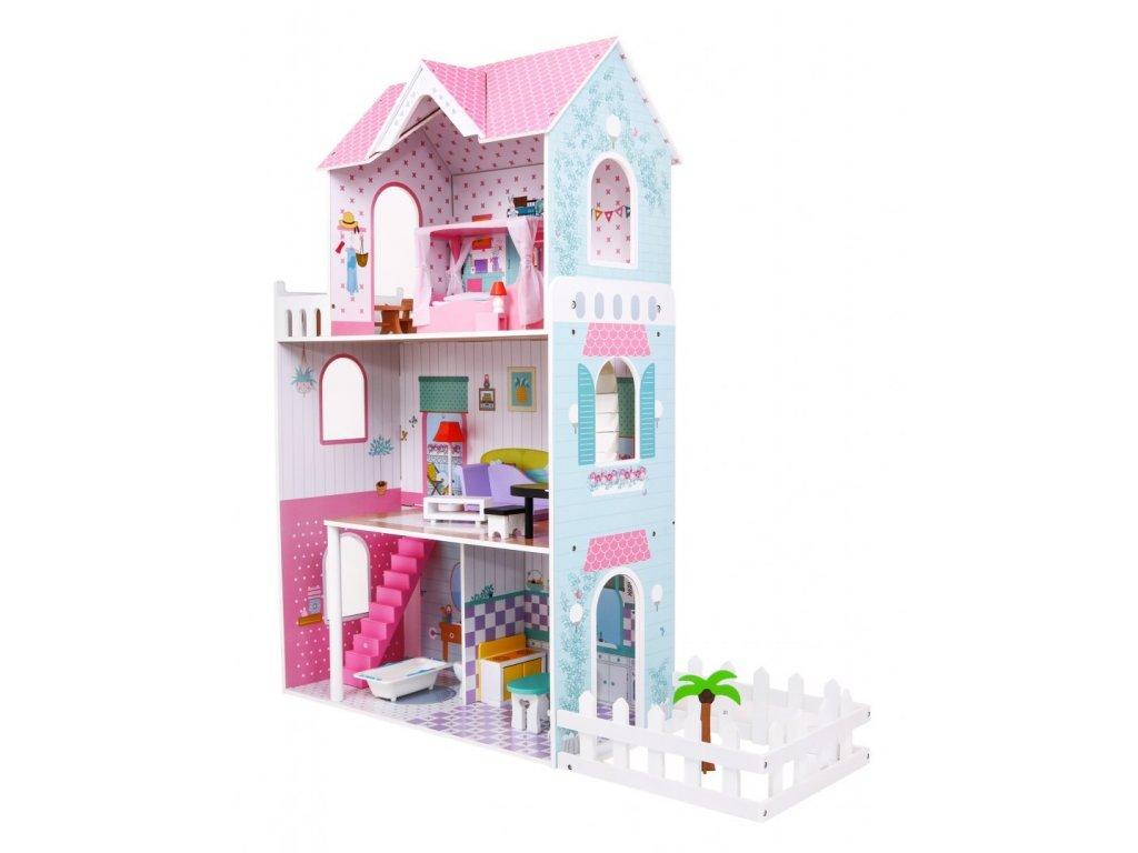 dřevěný domeček pro panenky se zahrádkou (1)