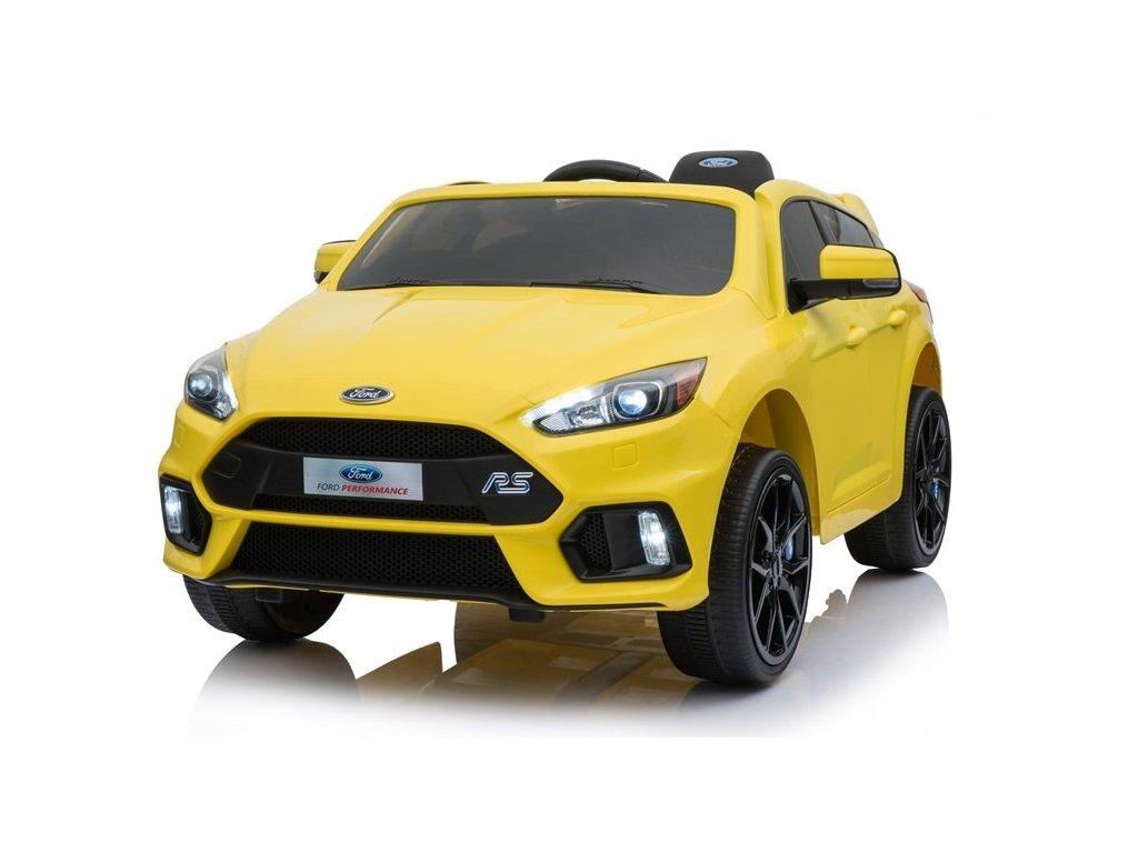 Elektrické autíčko Ford Focus žluté2