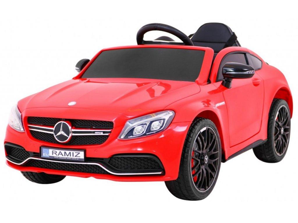 Elektrické autíčko Mercedes Benz C63 AMG červené