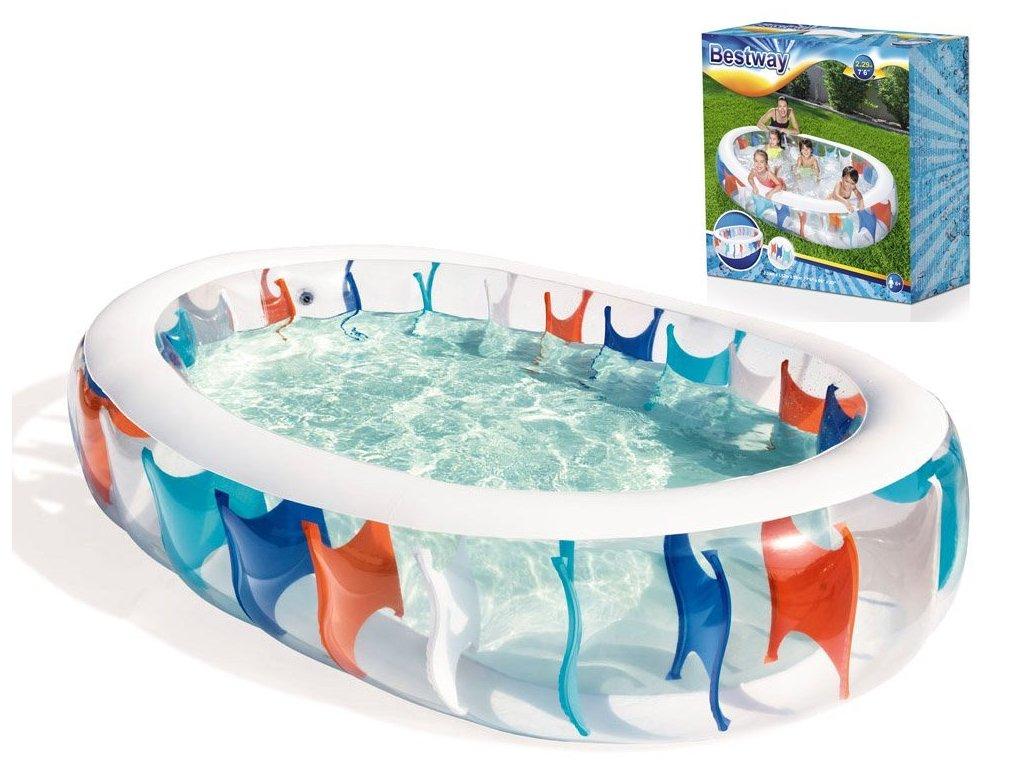 mamido Bestway nafukovací bazén elipsa 229 x152 cm 540 66