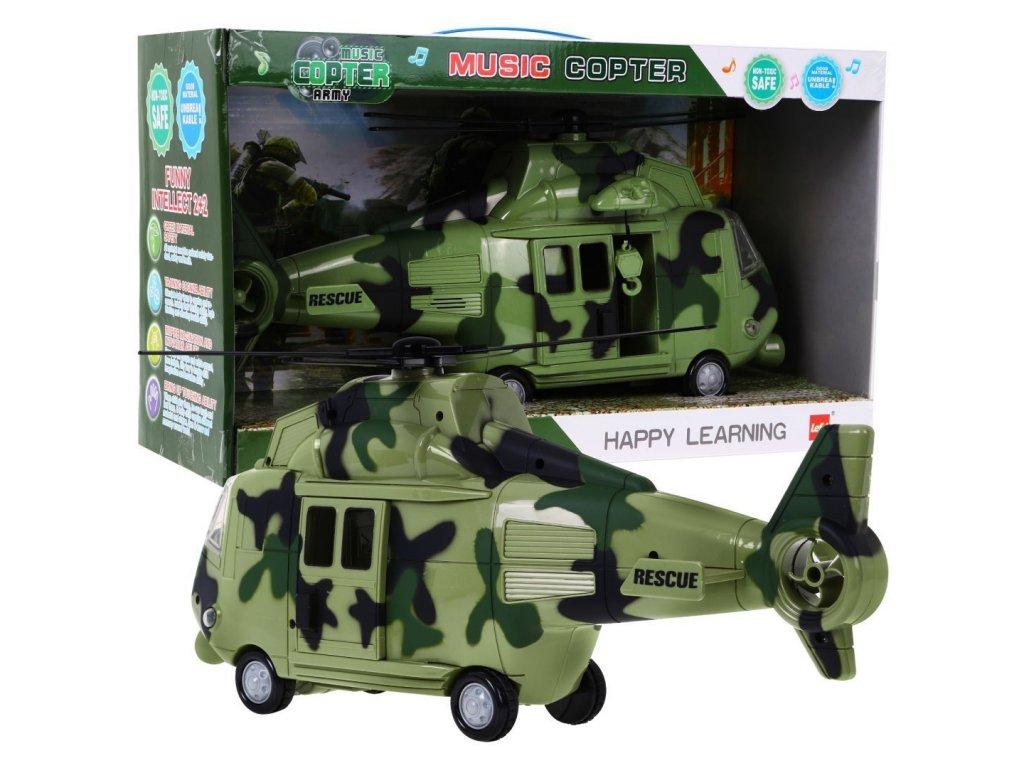 vojenská helikoptéra se zvukovými efekty zelená (1)