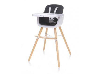 Jídelní židlička 4Baby Scandy XX černá