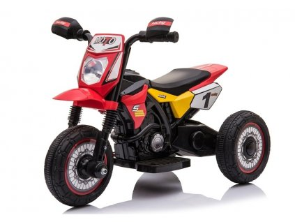 dětská elektrická motorka červená 1