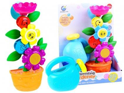 Barevná květina s konvičkou do vany pro děti (1)