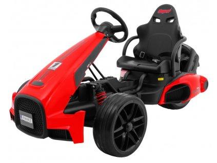 Dětská elektrická motokára červená 1