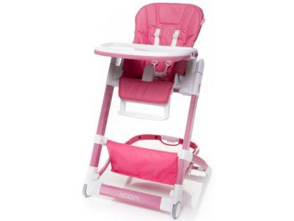 Jídelní židlička 4Baby Icon růžová