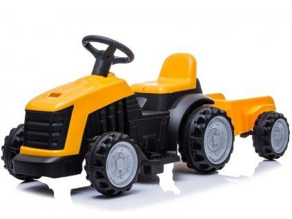 mamido dětský elektrický traktor s vlečkou žlutý (2)