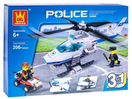 Mamido stavebnice kostky policie 3v1 (3)