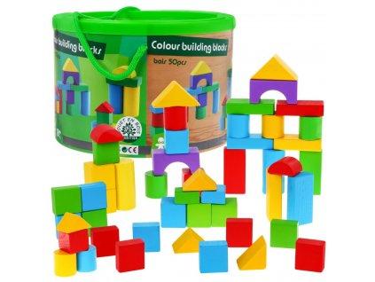 dřevěná stavebnice 0 dílů různé tvary a barvy (1)