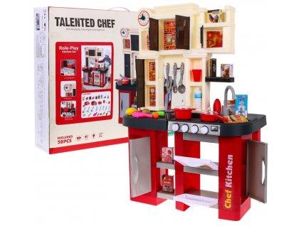 dětská kuchyňka červená (8)