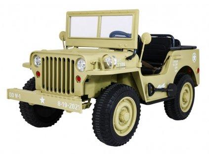 Vojensky jeep willys pro děti 4x4 (2)