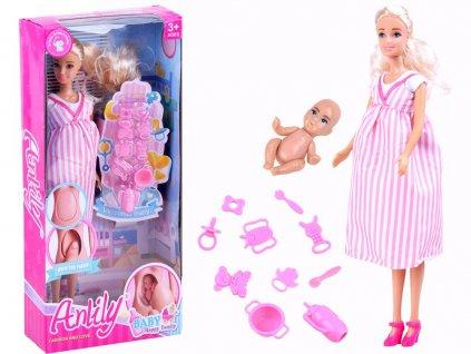 Mamido Dětská panenka s miminkem v brisku (2)