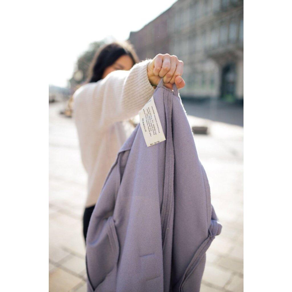 Tehotenský kabát Stone Violet