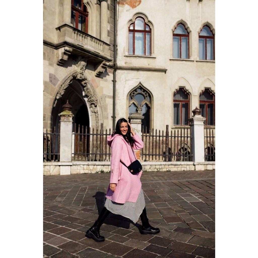 Tehotenský kabát Candy Pink