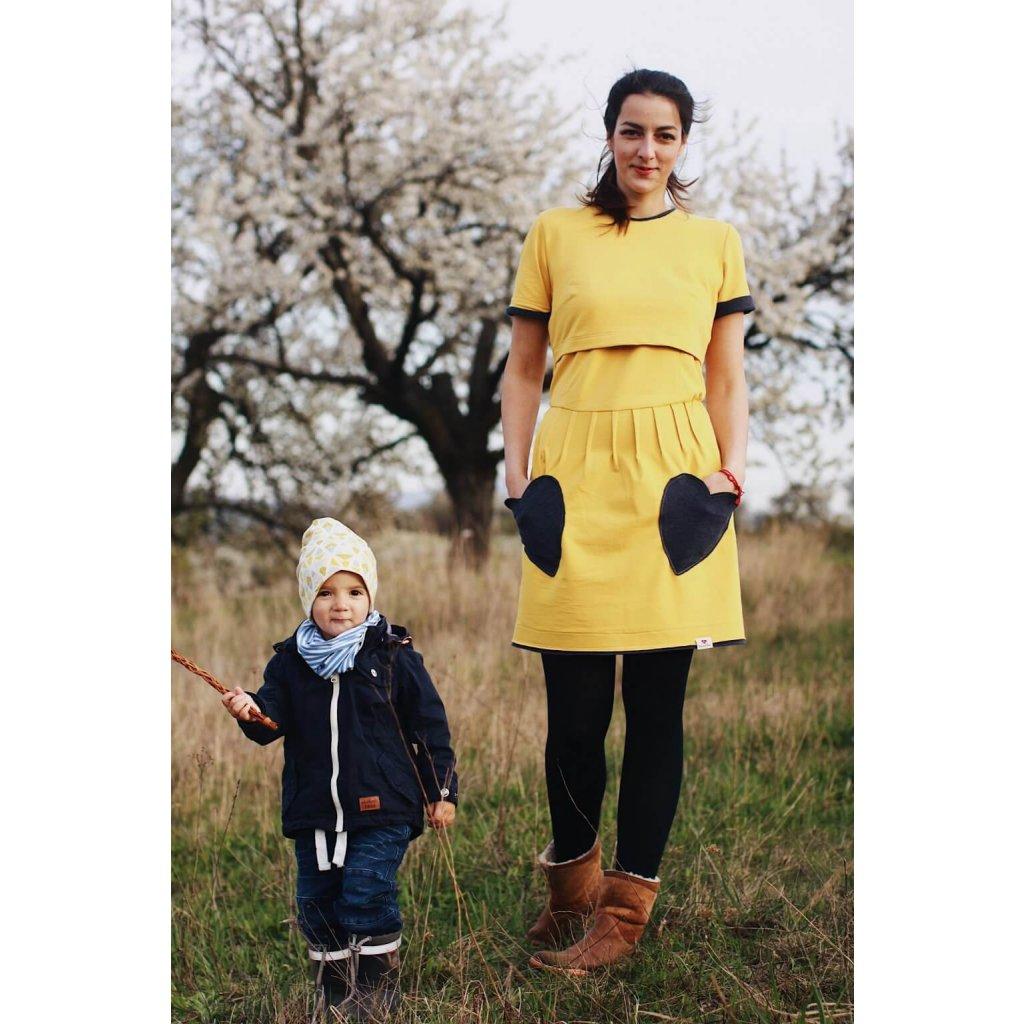 saty na dojcenie love yellow