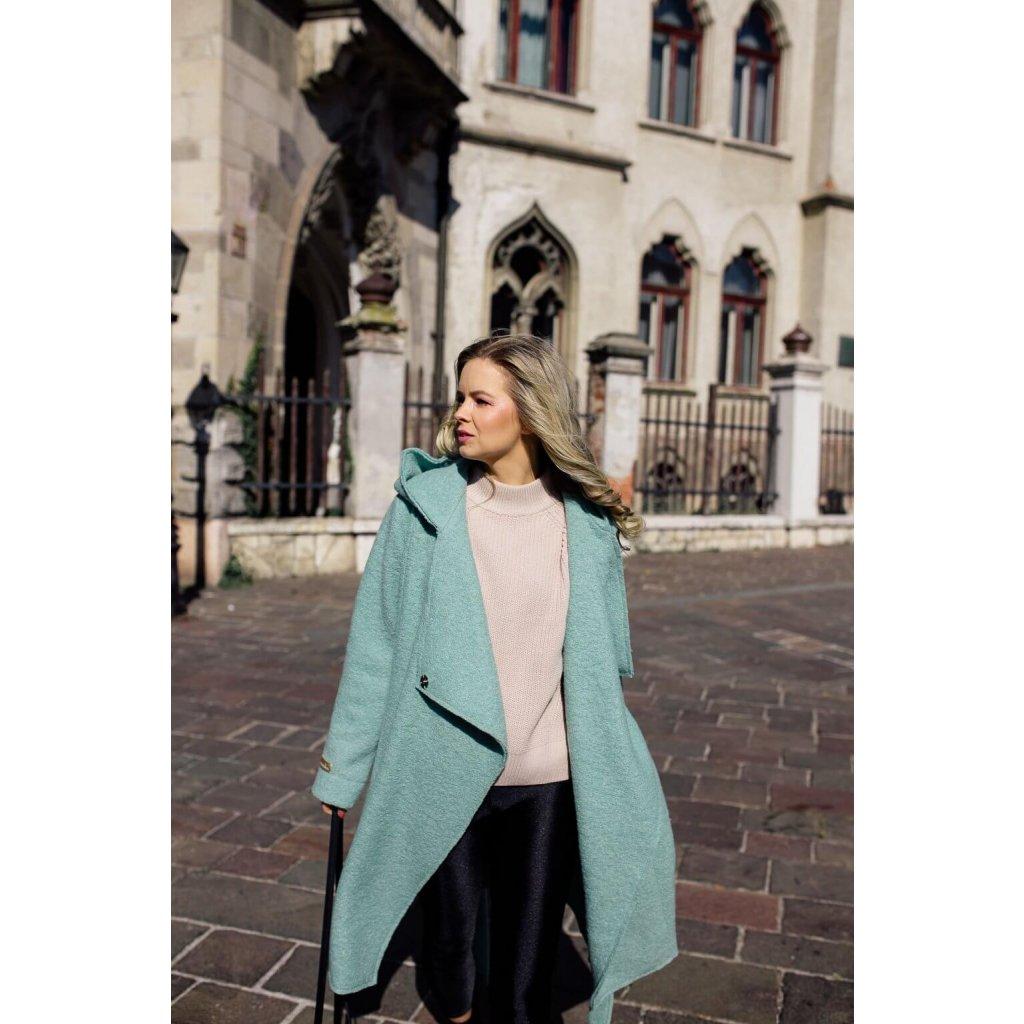 Nosičský a tehotenský kabát neo mint