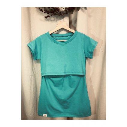 Tričko na dojčenie basic green