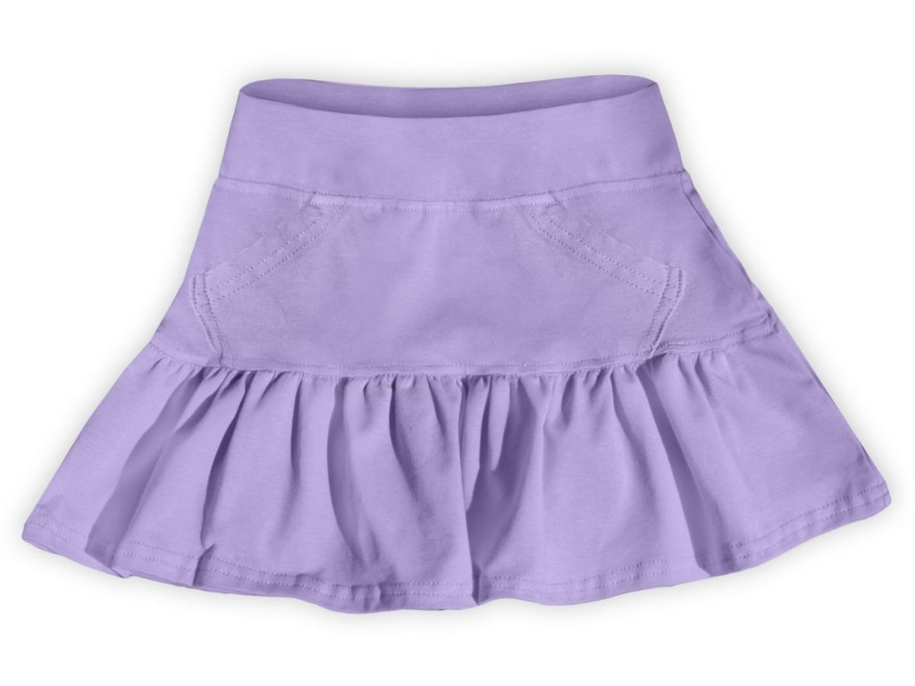 Dívčí sukně JOŽÁNEK s volánkem - fialová