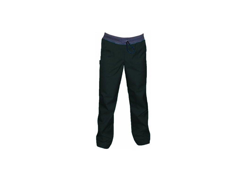 Softshellové kalhoty BAMBUS SLIM-ČERNÉ