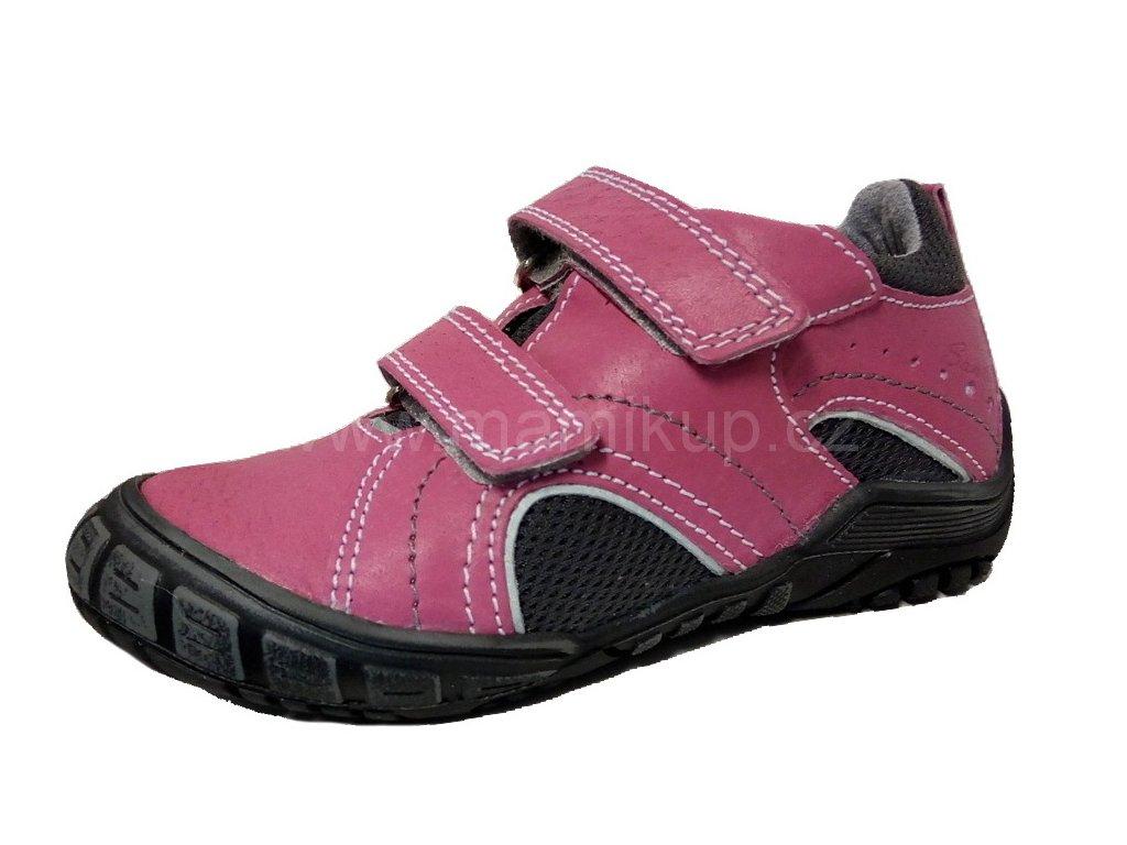 df8644ed95c7 Dětská kožená zdravotní obuv Santé - RŮŽOVÁ - MAMIKUP