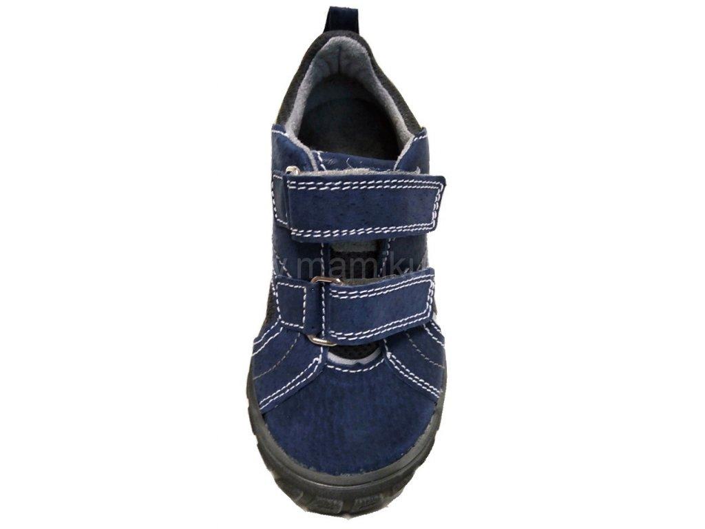 2863e3ff2d34 ... SANTE MODRE VRCH SANTE PODRAZKA Dětská kožená zdravotní obuv Santé -  MODRÁ