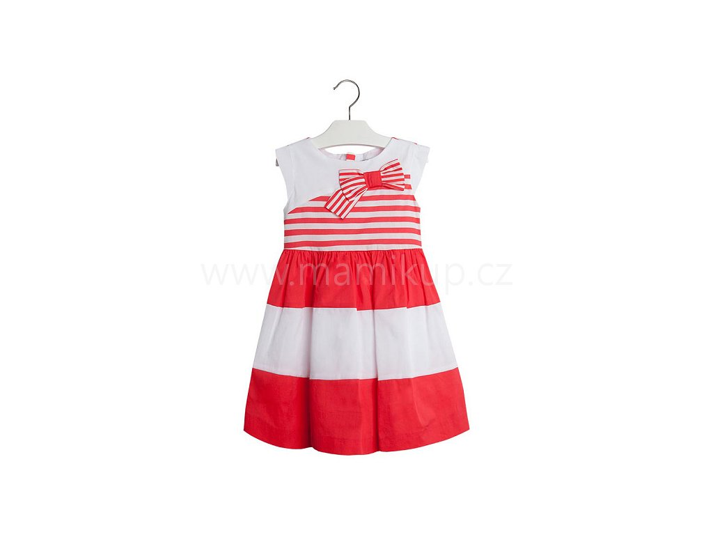 Letní šaty Mayoral MARINE S MAŠLÍ - červené