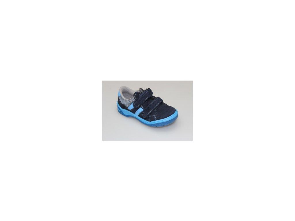 fbd6773032fe Dětská semišová zdravotní obuv Santé - MODRÁ - MAMIKUP