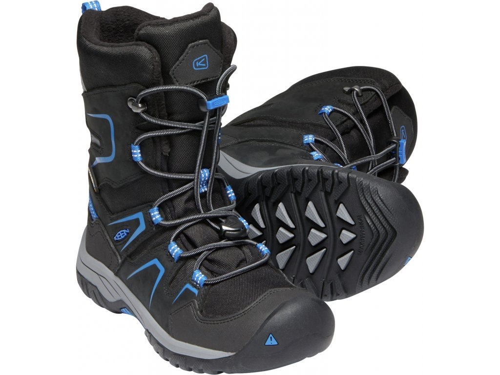 CHLAPECKÁ zimní obuv Keen LEVO WINTER WP - černá