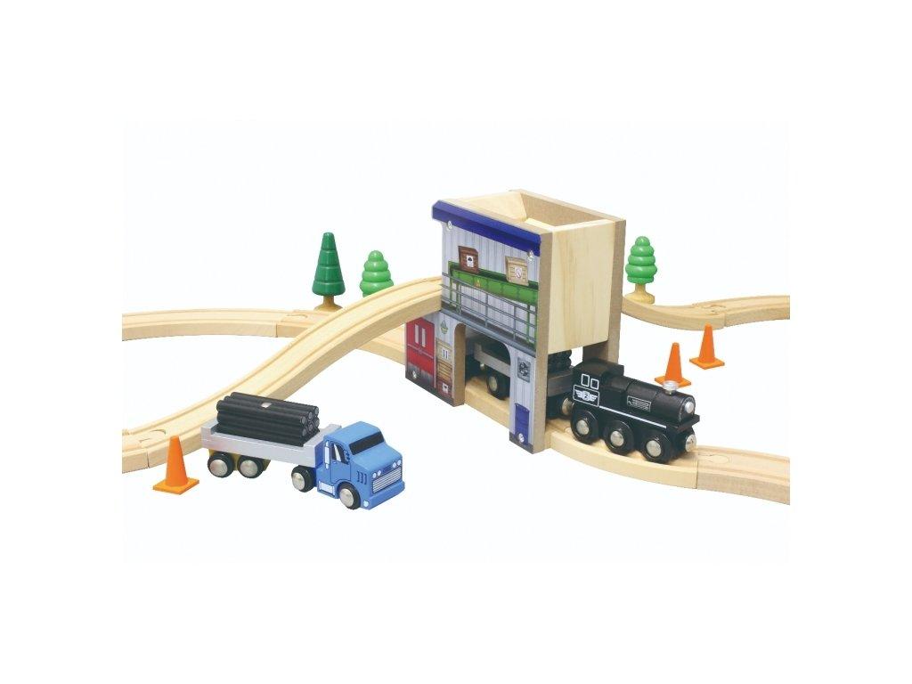 50953 cargo station w train set