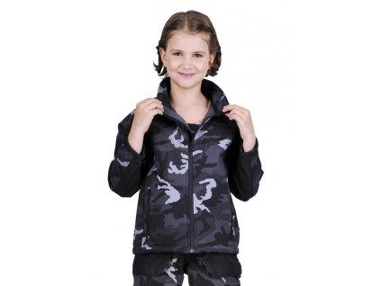 Dětská softshellová bunda ČERVA - DOPRODEJ