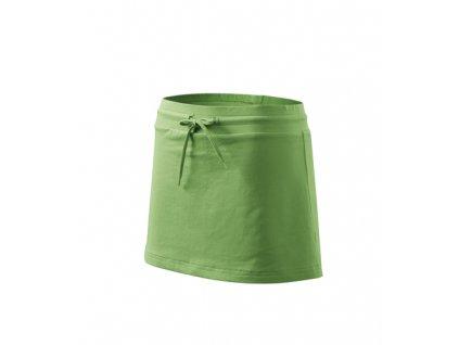 Dámská sportovní sukně se šortkami - ZELENÁ