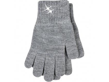 Vivaro rukavice seda stribrna