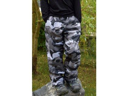 ZIMNÍ šusťákové kalhoty Fantom - CAMOUFLAGE
