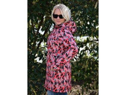 Dámský ZATEPLENÝ softshellový kabát s membránou 30000/15000 - CAMOUFLAGE