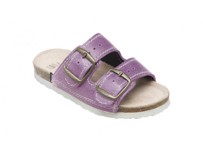 Dětské zdravotní PANTOFLE Santé - fialové