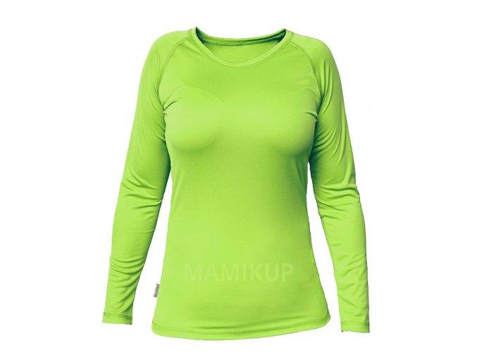 Dámské triko s BAMBUSEM a UV ochranou, DLOUHÝ RUKÁV - 4 BARVY