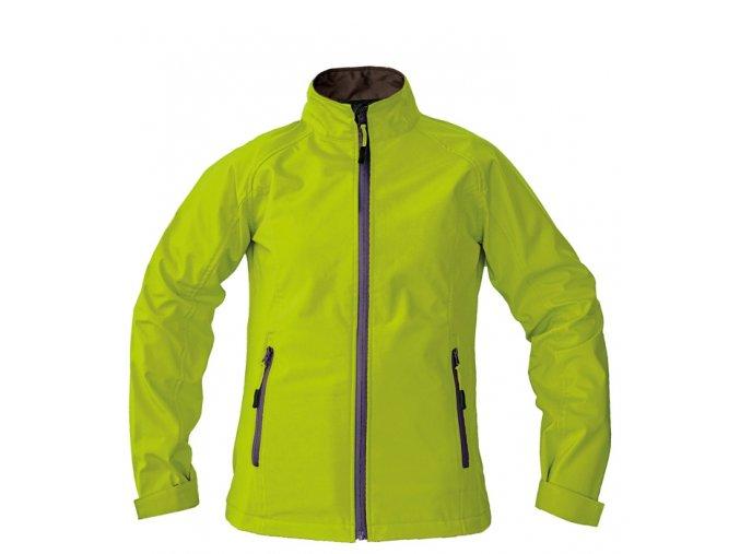 Dámská SLABÁ softshellová bunda GAULA - zelená, vel.L