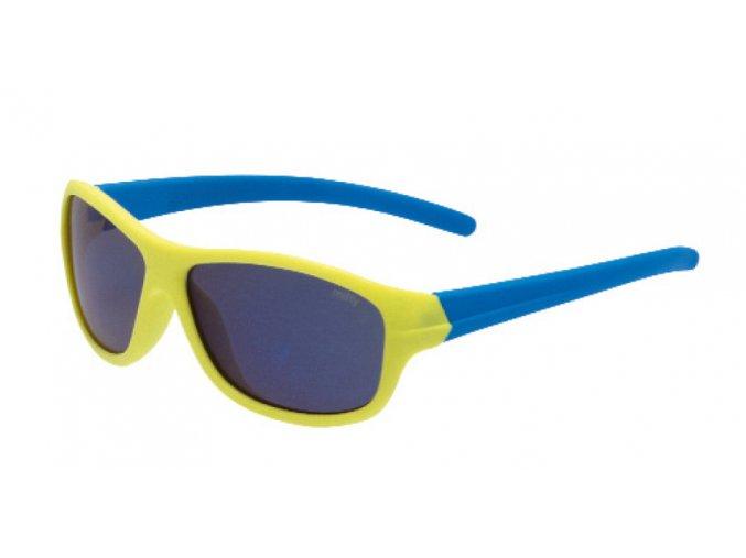 Dětské gumové sluneční brýle 3F RUBBER - ŽLUTO MODRÉ 1439