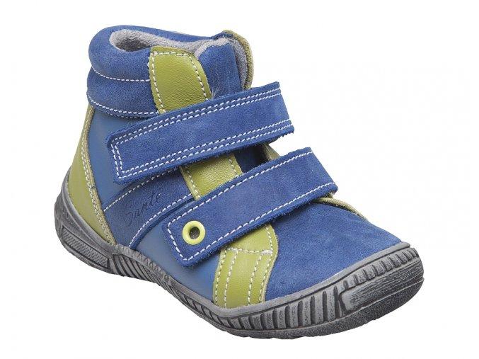 Dětská celokožená kotníková obuv SANTÉ LONDON