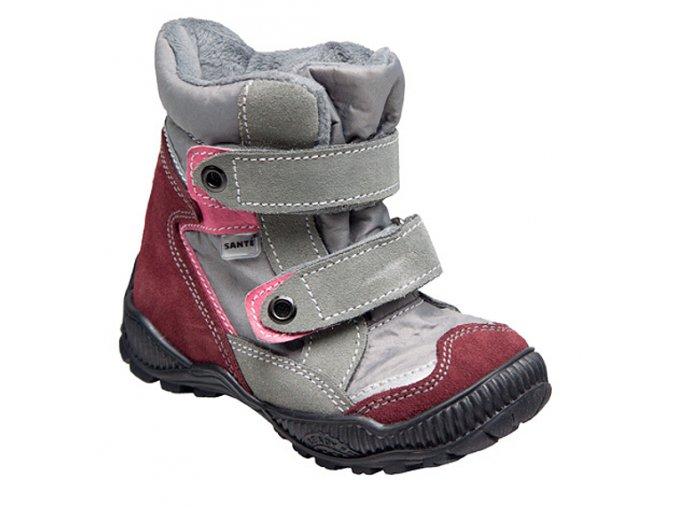 Dětská zimní obuv s membránou - SANTÉ TRACKTOP, fialová