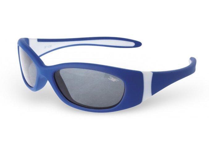 Dětské gumové sluneční brýle 3F RUBBER - MODRÉ 1230