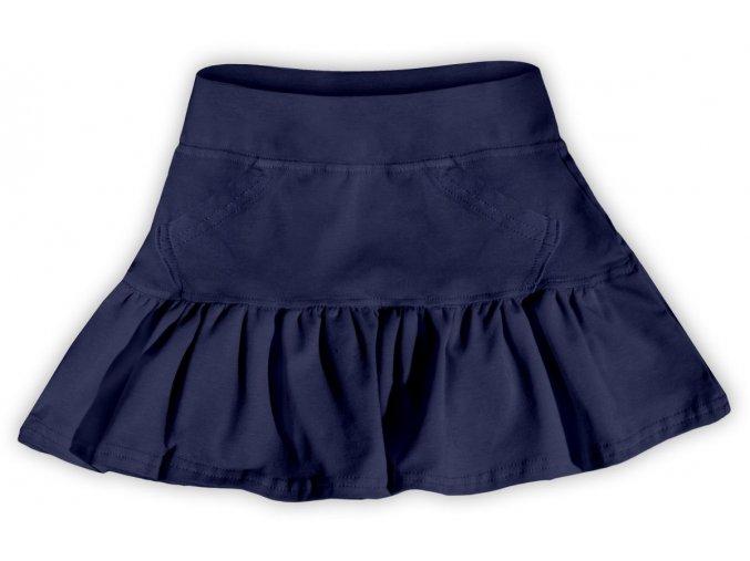 Dívčí sukně s volánkem - tmavě modrá, vel. 116