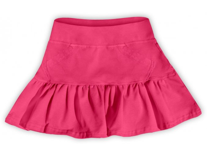 Dívčí sukně JOŽÁNEK s volánkem - růžová