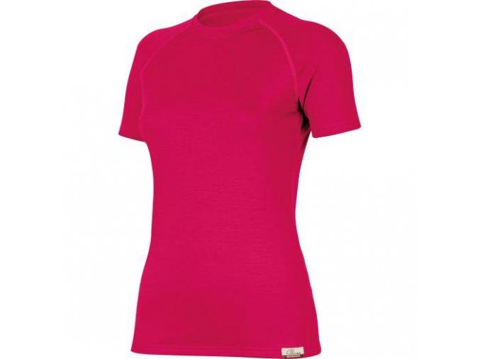 Dámské merino triko Lasting ALEA - magenta
