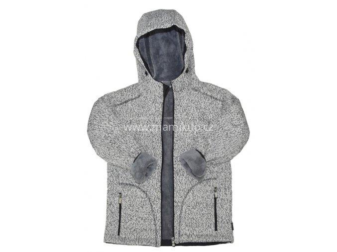 Softshellová bunda s kožíškem PODZIM/ZIMA