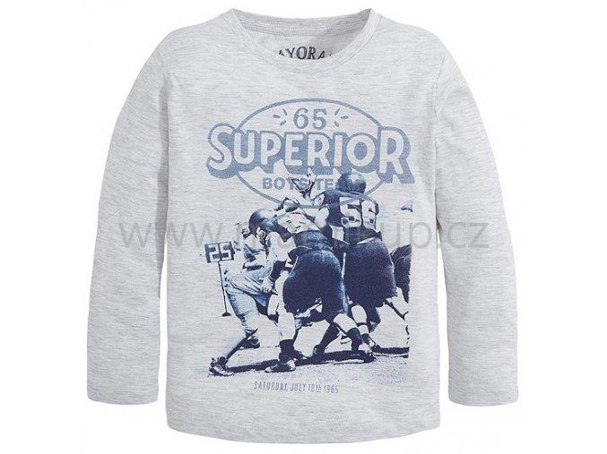 Chlapecké triko Mayoral Rugby s dlouhým rukávem - šedé